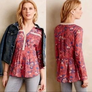 ANTHRO / MAEVE / PATTERNED LIGHT BLOUSE